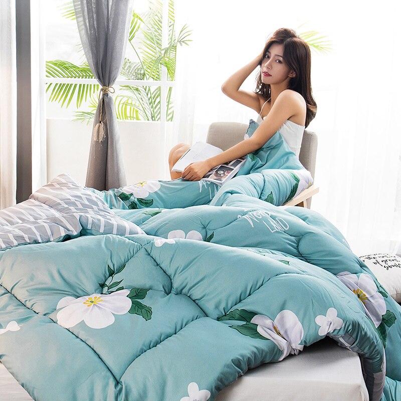 All-season Down Duvet Plush/Washable Duvet High Quality Microfiber Fill Comforter Multicolor Choose Hotel Home Quilt Blanket