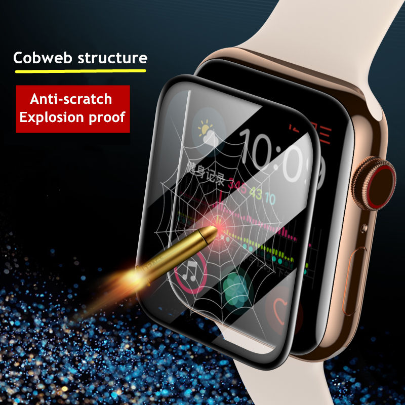 soft glass protector for apple watch series 6 se 5 4 40mm 44mm hydraulic anti fingerprint film for apple iwatch 3 2 1 38mm 42mm Soft Glass For Apple Watch series 5 4 3 Se 6 iWatch 38mm 42mm 9D HD Tempered Film for Apple watch Screen Protector 44mm 40mm