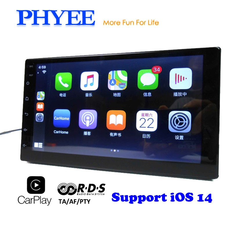 CarPlay Car Radio 2 Din RDS Mirror Link MP5 Bluetooth Audio A2DP Handsfree USB Stereo System 7