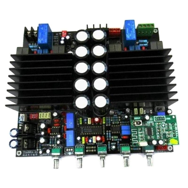 O amplificador tda8954th 2.1 bluetooth placa amplificador digital de alta fidelidade d predecessor amp 210w x2 lm1036 + ne5532 C6-003