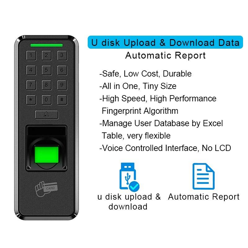 Eseye impressão digital fechadura da porta de controle acesso usb leitor teclado controle acesso dispositivo empregado casa entrada registro saída fechadura da porta