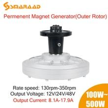 100W-500W 1KW 2KW 3KW 100rpm 300Rpm 24V 48V 220V  DC Generator  Permanent Magnet Alternator Coreless Maglev DIY l Wind Turbine