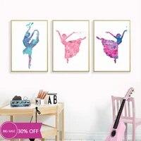 Toile de decoration de noel  affiches de Ballet  image artistique murale pour fille dansante  decoration de salon  decoration de maison
