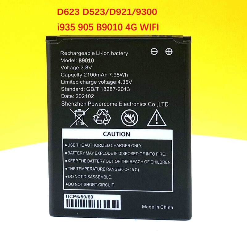 2100mAh B9010 Battery For D523/D921/9300 HD495060ARV 4G Wireless Router High Quality