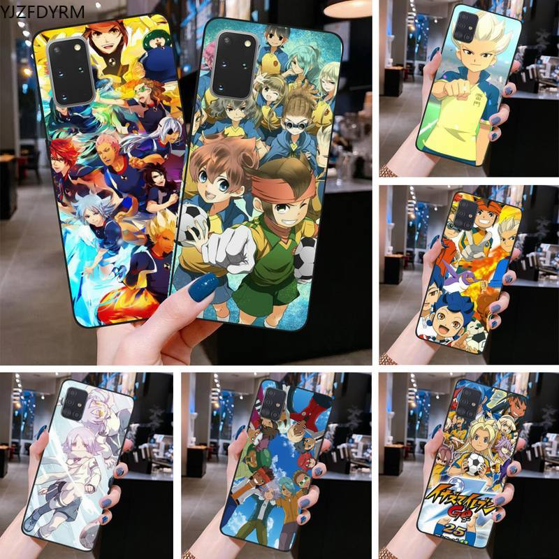YJZFDYRM Anime Inazuma once ir suave caso de teléfono para Samsung S20 plus Ultra S6 S7 borde S8 S9 más S10 5G lite 2020
