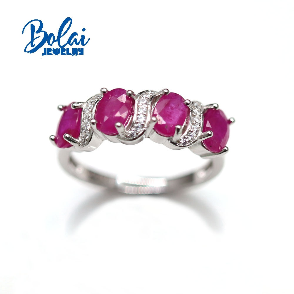 2021 New Natural Ruby oval 4*6mm Set 925 Sterling Silver Ring Earrings Fine Jewelry Perfect gift for your loved one