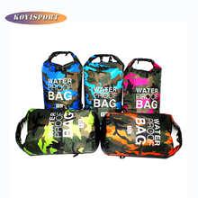 Водонепроницаемая сумка из ПВХ для занятий спортом на открытом воздухе, карманный рюкзак для кемпинга и пешего туризма, водонепроницаемые ...