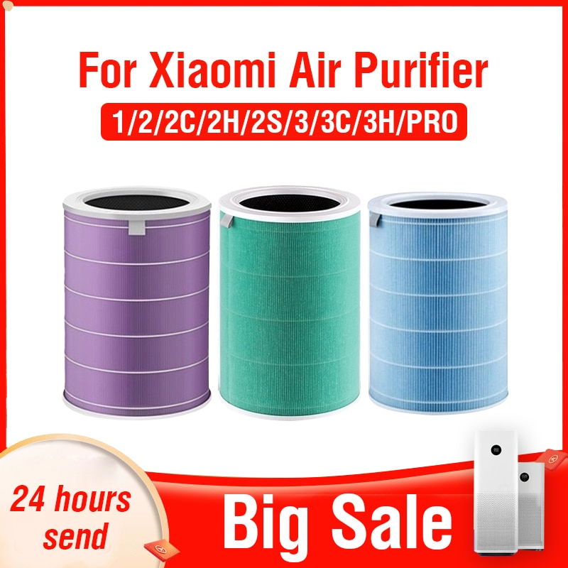 PM2.5 Hepa Filter Xiaomi for Xiaomi Air Purifier 2 2C 2H 2S 3 3C 3H Pro Activated Carbon Filter Xiaomi Air Purifier 2S Filter mexi air purifier hepa filter cartridge carbon fiber formaldehyde removal for original xiaomi oled display smart air purifier 2s
