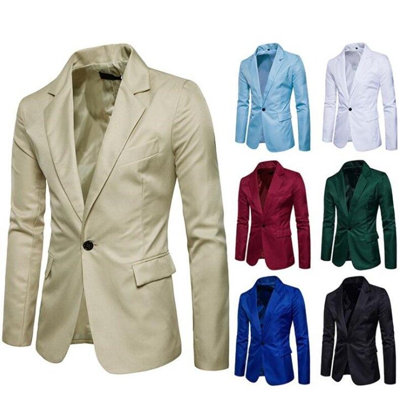 Hombres de chaqueta de traje de hombre juventud coreana casual de negocios...