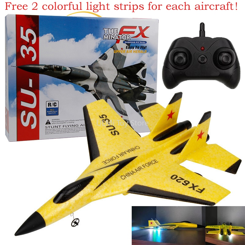 New SU-35 RC Remote Control Airplane 2.4G Remote Control Fighter Hobby Plane Glider Airplane EPP Foa