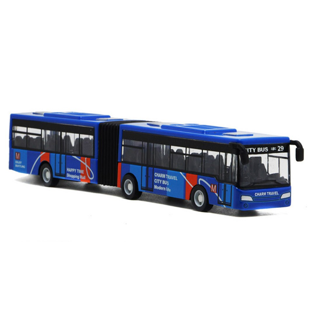 1:64 18cm Blue Red Green Metal Diecast Model Vehicle Shuttle Bus Cars Toys Small Baby Pull Back Toy