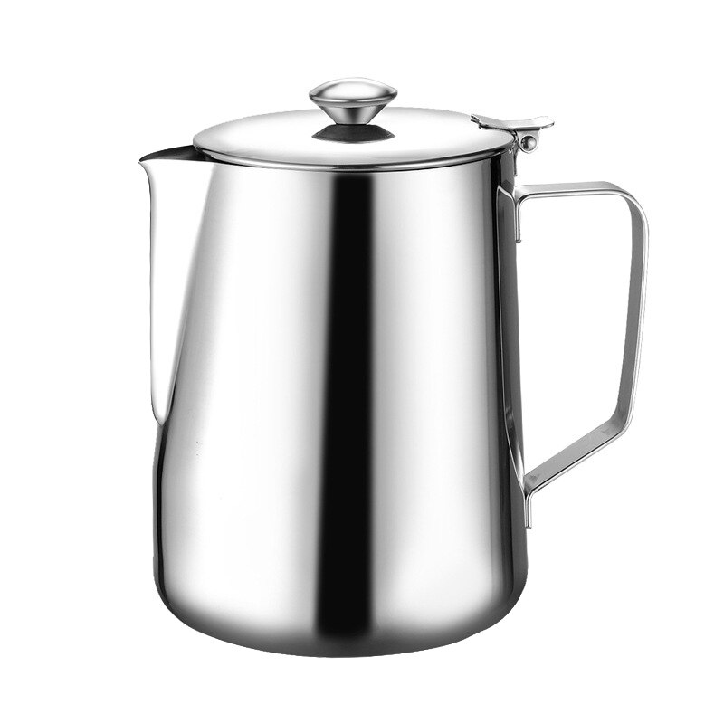 1.5L الفولاذ المقاوم للصدأ سحب زهرة إسبرسو Frother مزبد جارلاند كوب إبريق الحليب إبريق قهوة سعة كبيرة