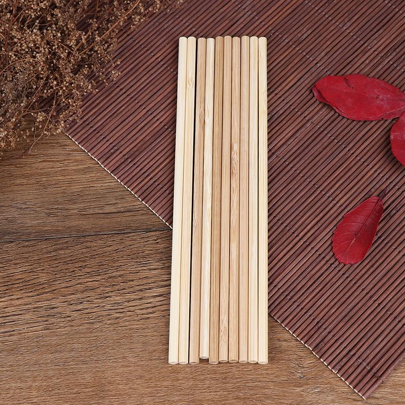 5 Teile/satz 20cm Natürliche Holz Strohhalme Für Party Geburtstag Hochzeit Bar Werkzeug Bambus Stroh Strohhalm Reusable Organischen Bambus Trinken strohhalme