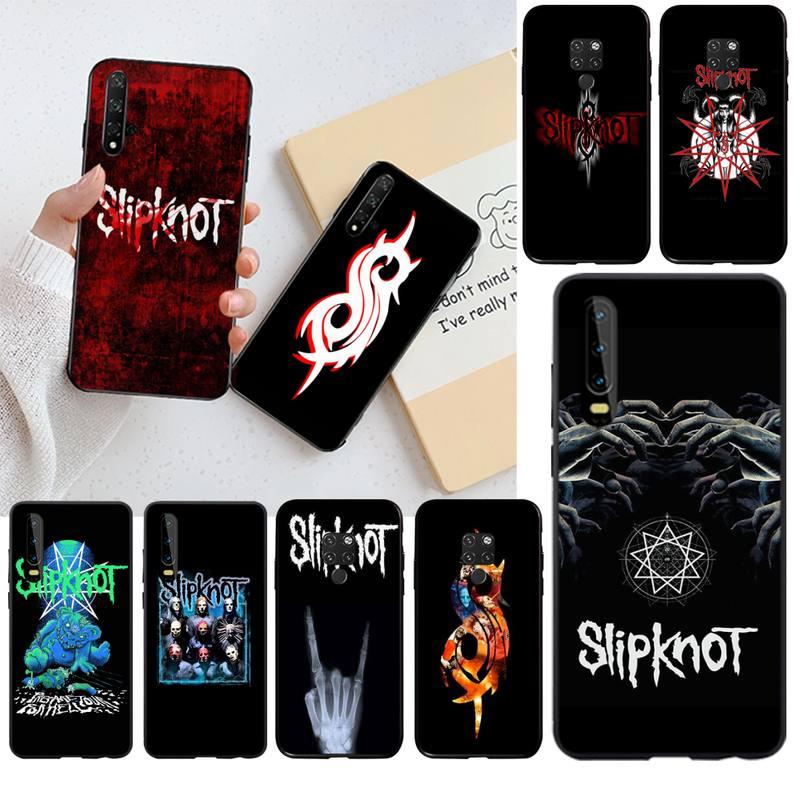 CUTEWANAN logotipo Slipknot DIY Impresión de cubierta de la caja del teléfono de Shell para Huawei P30 P20 lite amigo 20 Pro lite P Smart 2019