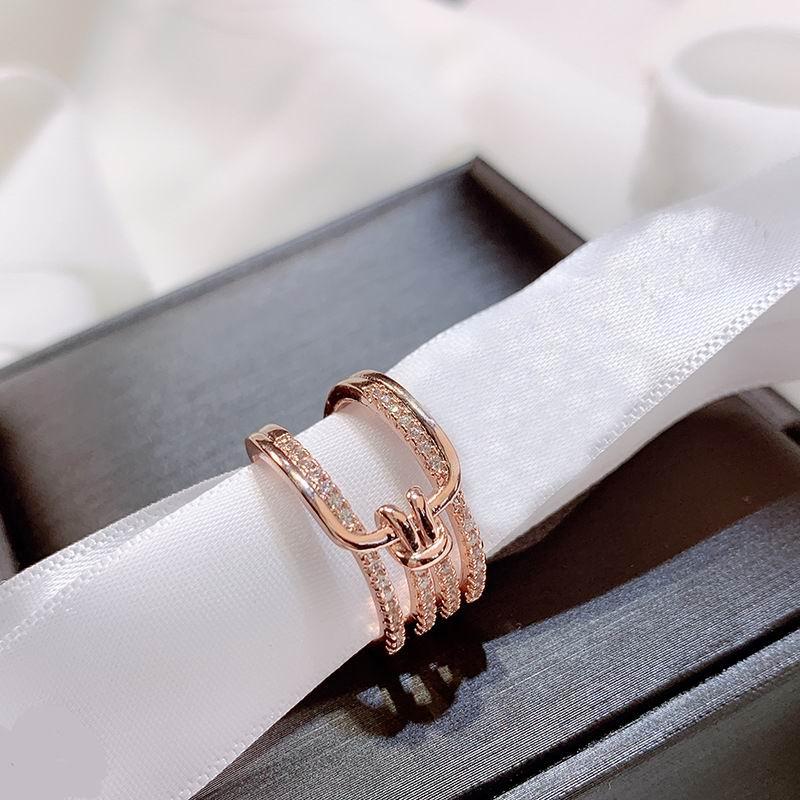 Anillo ancho de diamantes de imitación de múltiples capas de nudo de moda para las mujeres 2020 nuevos anillos de dedo Bijoux