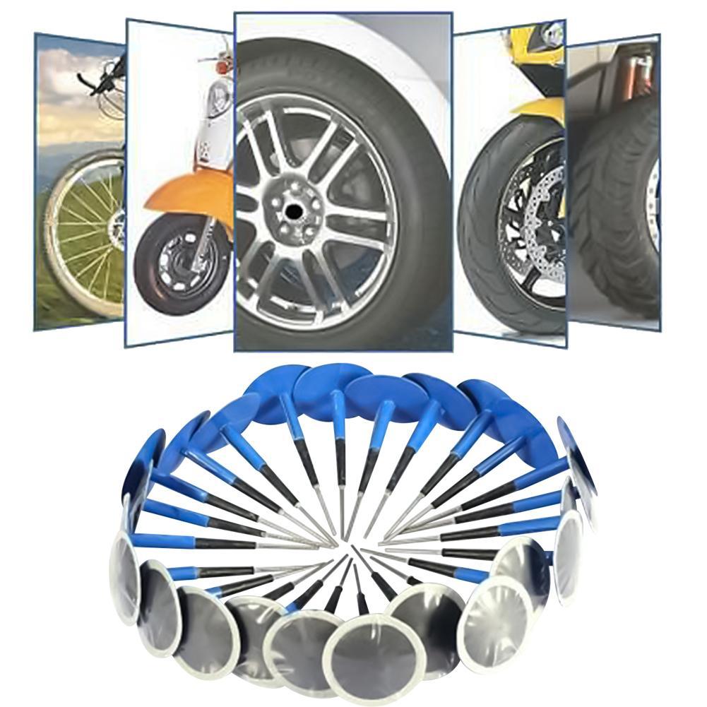 24 pçs universal borracha pneu de carro pneu punctura cogumelo plug remendos ferramenta reparo plug remendos ferramenta de reparo plug remendos reparo também