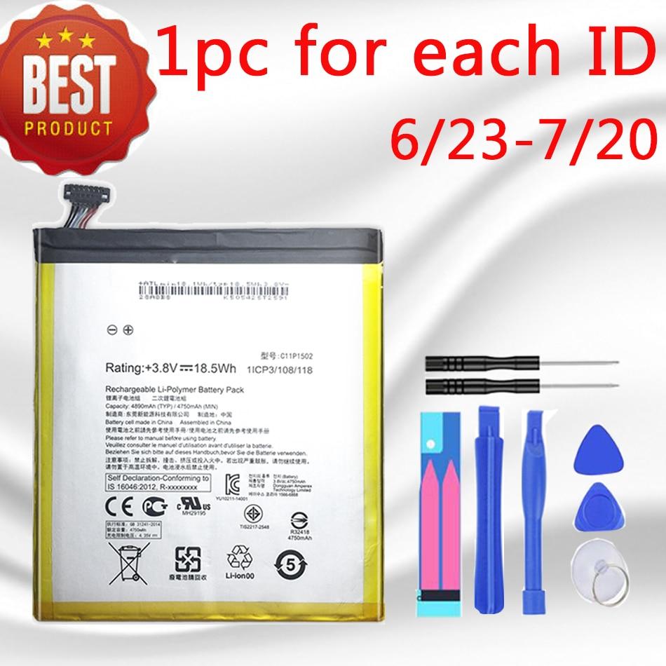 Bateria c11p1502 da tabuleta de 4890mah para asus zenpad 10 z300c z300cl z300cg p023 p01t 10.1 4890mah li-polímero substituição batteria