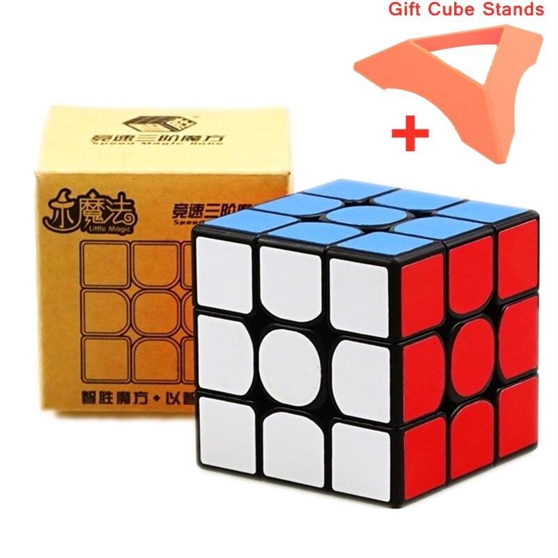 Yuxin Little Magic 3x3 Cubo sin pegatinas Cubo de velocidad 3x3x3 Cubo mágico juguetes rompecabezas Cubo magico rompecabezas profesional Anti estrés Juguetes Little Magic 3x3 cube speed cube 3x3x3 Anti Stress game Toys