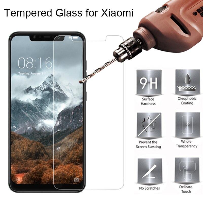 واقي شاشة Poco X3 M3 X3 NFC F2 Pro M2 Pocophone F1 من الزجاج المقسى لهاتف شاومي Mi A3 Mi A1 A2 Lite Mi 6