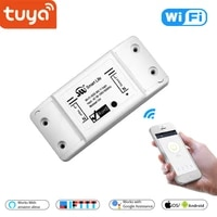 Interrupteur lumineux intelligent WiFi sans fil   Interrupteur universel  minuterie disjoncteur Smart Life APP  telecommande fonctionne avec Alexa Google Home