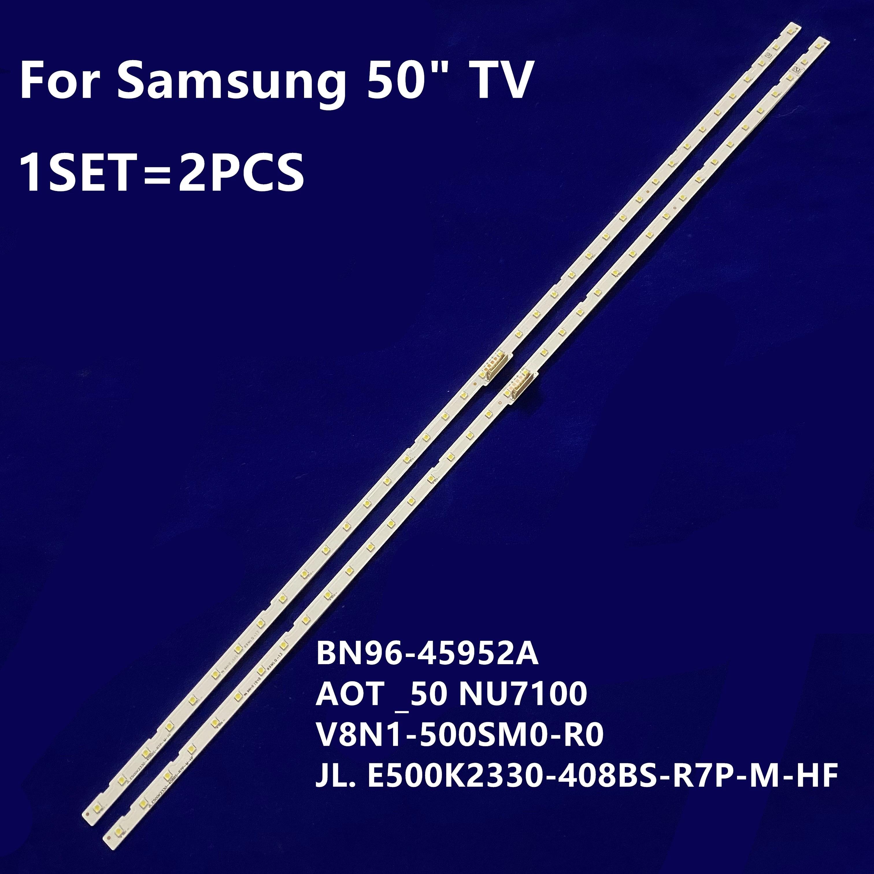 10 قطعة LED الخلفية قطاع لسامسونج UN50RU7100 UE50NU7100 UE50NU7020 50NU7400 BN96-45952A 45962A UN50NU7100 LM41-00564a 46034A