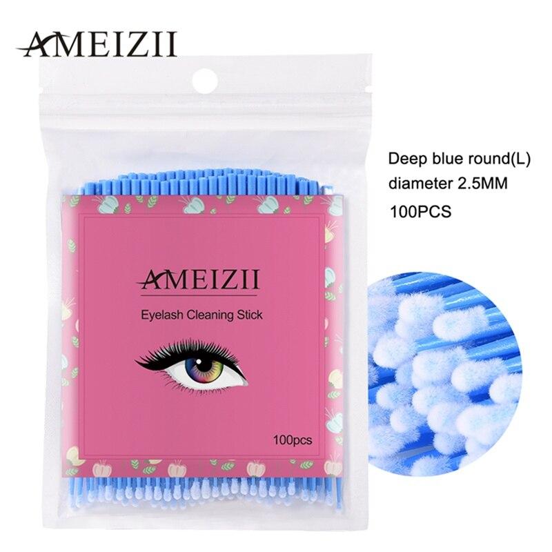 AMEIZII, nuevo, 100 Uds., bastoncillos cosméticos, brochas aplicadoras, cepillo de microespinillas dentales, varitas para máscara, alerones, triangulación de envíos