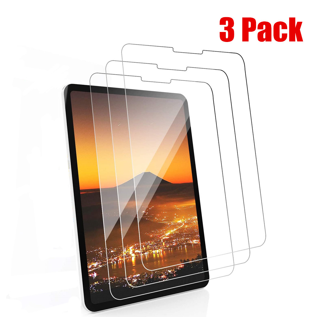 3piece Tempered Glass Film For iPad Pro 11 Screen Protector For iPad 10.2 2019 Air 4 3 2 Pro 10.5 12.9 Mini 5 4 3 2 Glass