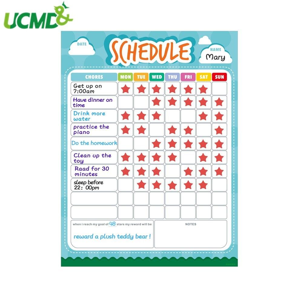 Agenda Semanal magnética Calendario para horarios diario tablero de notas para refrigerador imán pizarra blanca adhesiva extraíble organizador de Agenda
