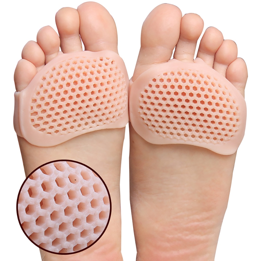 USHINE Silicone Padded Insoles Front High Heels Shoe Pad Gel Insoles For Shoes Health Care Shoe Insole High Heel Ballet Yoga Sho