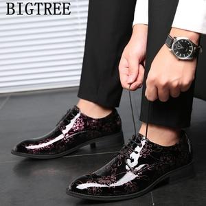 Dress Shoes Men Formal Italian Brand Wedding Dress Party Shoes For Men Evening Dress Coiffeur Elegant Shoes For Men Big Size 48
