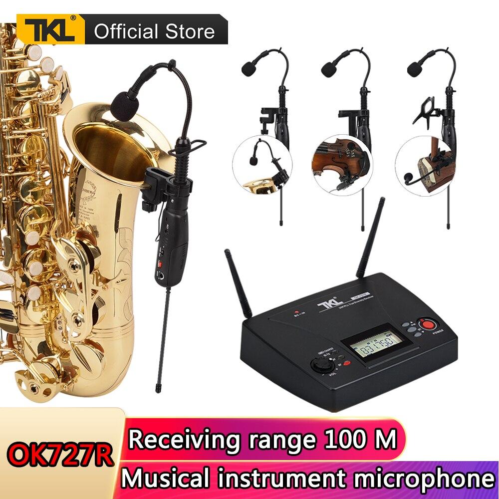 Tkl desempenho da fase ok727r saxofone instrumento musical sem fio microfone violino guitarra erhu dedicado sistema de equipamentos