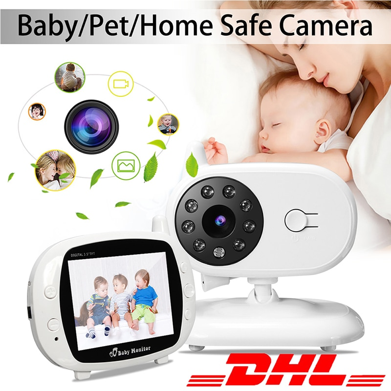 SP850 فيديو مراقبة الطفل اللاسلكية 3.5 بوصة LCD 2 طريقة الصوت الحديث للرؤية الليلية مراقبة الأمن كاميرا جليسة الأطفال