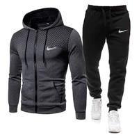 2021 yeni erkek moda Sweat A Capuche sport giyim kosu Homme rahat esofman kosu spor takim elbise