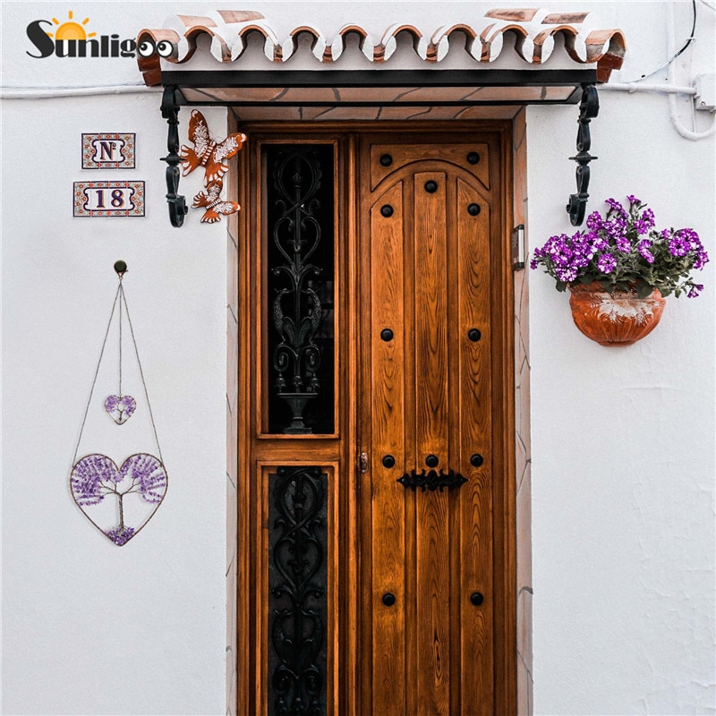 Sunligoo Tree of Life Stone Feng Shui Heart Hanging Ornament  Amethyst Gemstones Spiritual Meditation Home Walls Wedding Decor
