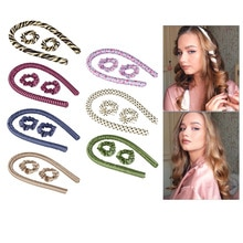 Heatless Curling Rod Headband - Lazy Curler Set No Heat Curls Silk Ribbon Hair Rollers Sleeping Soft