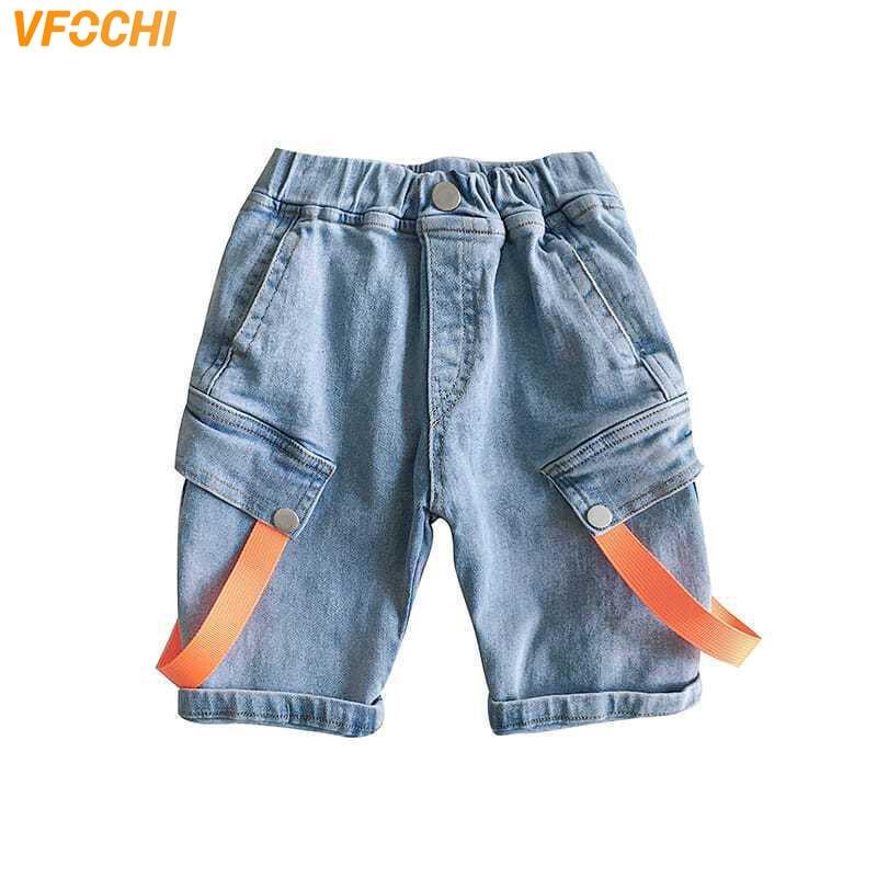 VFOCHI Fashion Boys Denim Shorts 2-12Y Kids Shorts Summer Children Clothes Boys Beach Shorts Casual Teenager Boys Jeans Shorts