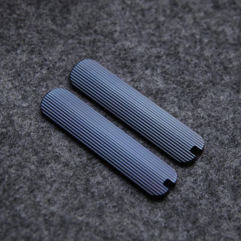 مقبض من سبائك التيتانيوم لسكين الجيش السويسري ، مقياس 58 مللي متر ، مصنوع حسب الطلب ، مجموعة جديدة