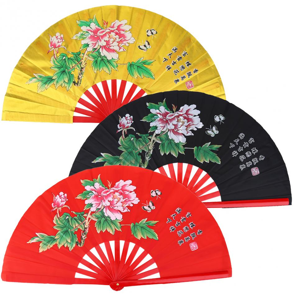 Bambu tai ji kung fu fã de dança tai chi desempenho ventilador de fitness construção chinês fã artes marciais kung fu fãs wushu produtos