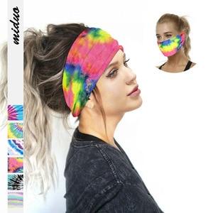 Christmas Gift Print Women Fashion Hair Belt Outdoor Sports Sweat-absorbing Headscarf Multi-functional