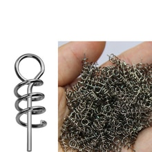 50PCS Or 100PCS fishing pins/Hook Tool Centering Pins Fixed Latch Needle Spring Crank Twist Lock for Soft Lure/Bait/Worm/Grub