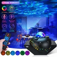 led sky star projector baby night light for children ocean waving nebula shine ambience lights bluetooth speaker for home party