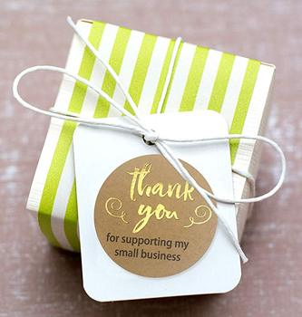 500pcs Thank You for Supporting My Samll Business Kraft Paper 4