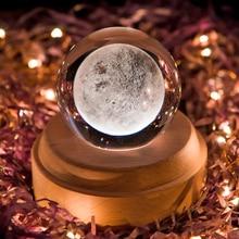 Деревянная музыкальная шкатулка, креативный хрустальный шар, электронный TypeMusical Box, вращающаяся Мерцающая светодиодная лампа, подарок на де...