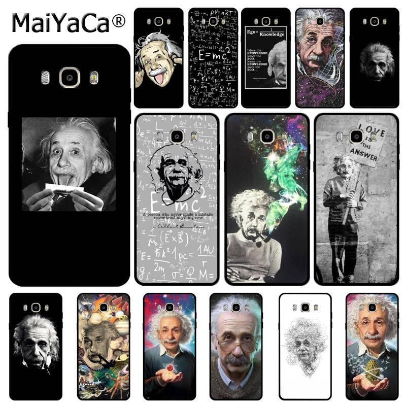MaiYaCa Einstein suave de TPU teléfono caso para Samsung J5 J72016 pro J7 J8 2018 J7plus J7 primer A10 50s 10s 20s 30s A9 2020