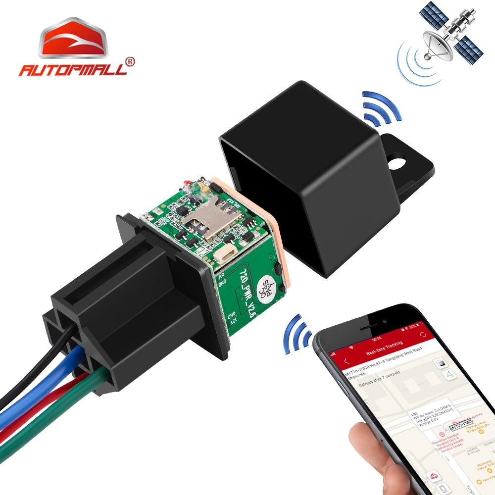 Relay GPS Tracker Car GPS Locator Cut Off Oil Fuel LK720 Upgrade Version GSM GPS Car Tracker Real-time Track Free APP PK CJ720