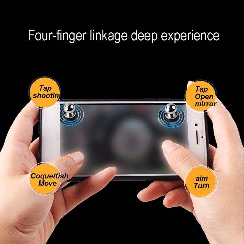 X-5 ventosa comiendo pollo artefacto pequeño pezón táctil Metal botón Tablet juego para teléfono controlador plata