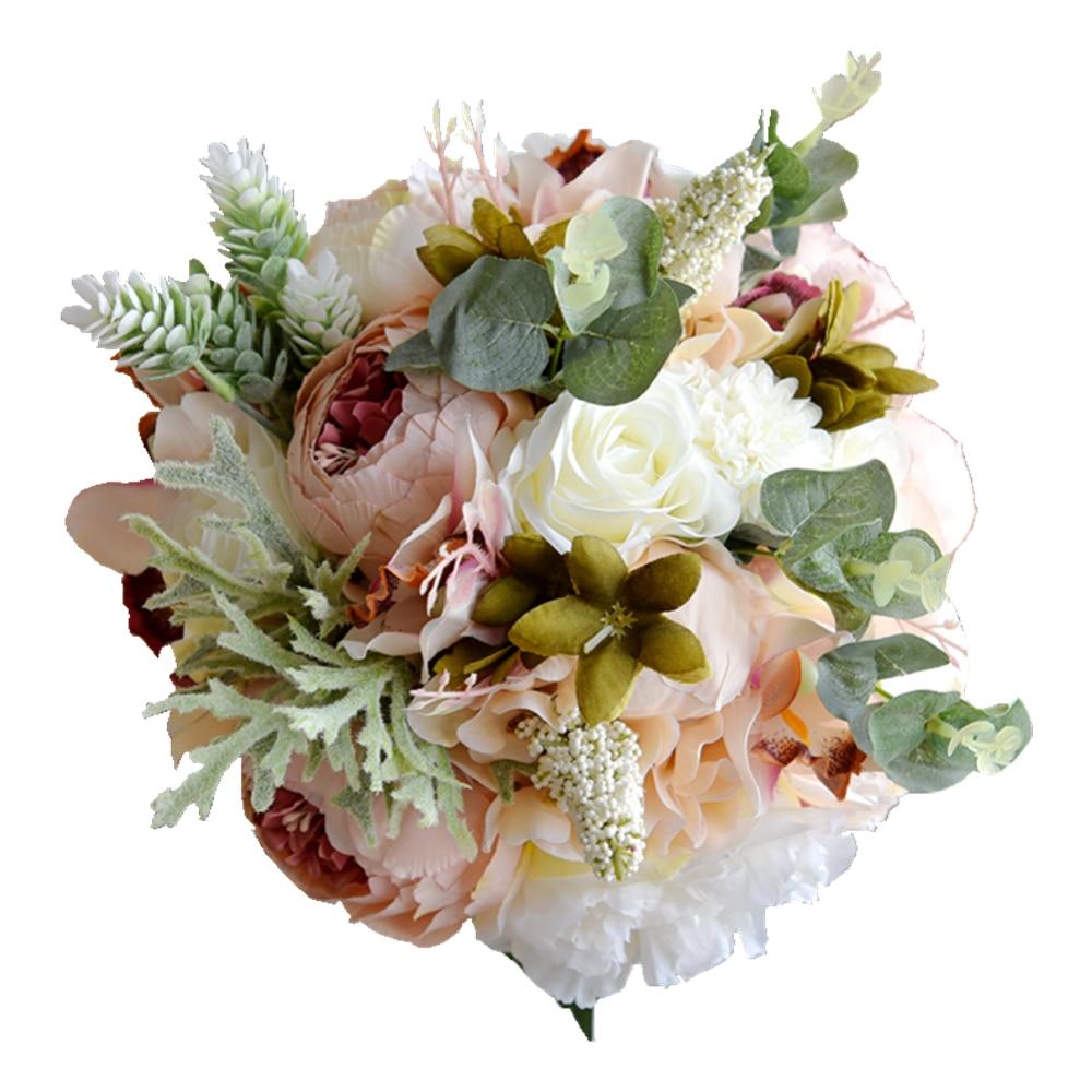 Wedding Flowers Bridal Bouquets Bridesmaid Bouquet Artificial Flower Rose Bouquet недорого