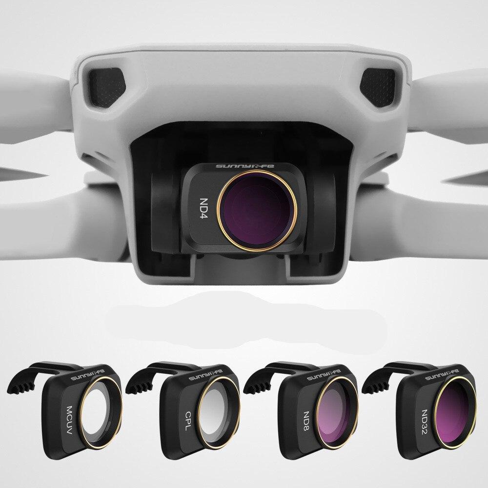 DJI Mavic Mini y el Set de filtros ND4/PL ND8/PL ND16/PL ND32 filtros de lentes con polarizador para DJI Mavic Mini 4K Drone Cámara