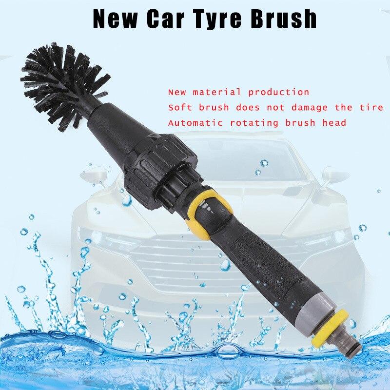 Venda direta da fábrica novo pneu de carro escova roda hub escova por atacado lavagem automática carro escova de espuma escova de água