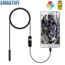 Cámara endoscópica Flexible de 7mm, impermeable IP67, Micro USB, boroscopio de Inspección, para Android, PC, Notebook, 6LED, ajustable